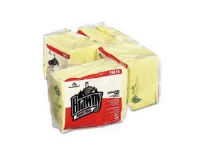 Georgia Pacific 29616 Brawny Industrial Dusting Cloths Quarterfold, 17 x 24, Yellow, 50/Pack, 4/Carton