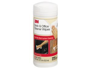 3M CL563 Desk & Office Cleaner Wipes, Cloth, 7 x 8, 25/Canister