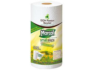 Marcal Small Steps 6210 100% Premium Recycled Mega Roll Paper Towel, White, 210 Sheets/Roll, 12/Carton