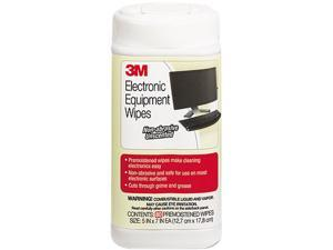 3M CL610 Electronic Equipment Cleaning Wipes, 5-1/2 x 6-3/4, White, 80/Canister, 1 Canister