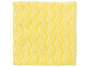 Rubbermaid Commercial Q610 Reusable Cleaning Cloths, Microfiber, 16 x 16, Yellow, 12/Carton