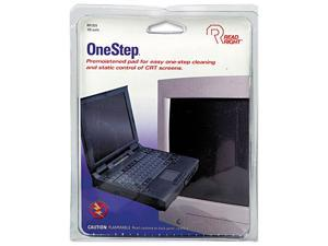 Read Right RR1309 OneStep CRT Screen Cleaning Pads, 5 x 5, Cloth, White, 100/Box