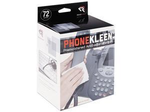 Read Right RR1303 PhoneKleen Wet Wipes, Cloth, 5 x 5, 72 per Box