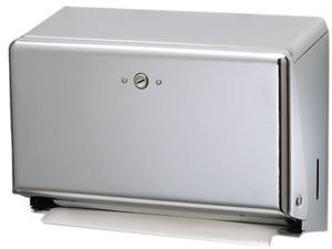 San Jamar T1950XC Mini Combination Hand Towel Cabinet, 11 1/8 x 3 7/8 x 7 7/8, Chrome