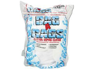 United Facility Supply N250CW01(UFS) Bag-A-Rags Reusable Wiping Cloths, Cotton, White, 1lb Box