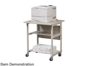 BALT 22601 Heavy-Duty Mobile Laser Printer Stand, 3-Shelf, 27w x 25d x 27-1/2h, Gray