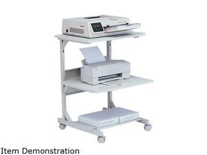 BALT 23701 Dual Laser Printer Stand, 3-Shelf, 24w x 24d x 33h, Gray