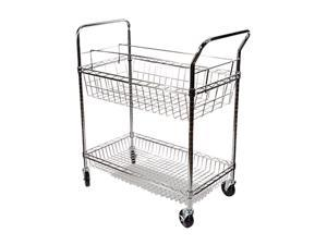 Alera ALEMC343722CR Wire Mail Cart, 2-Shelf, 34-1/4w x 21-1/2d x 39-1/2h, Chrome