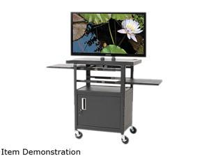 BALT 27530 Height-Adjustable Flat Panel TV Cart, 4-Shelf, 24w x 18d x 46h, Black