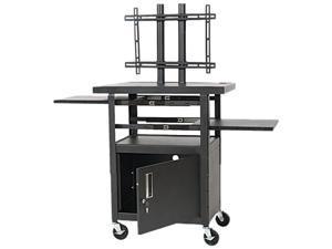 Balt 27532 Height-Adjustable Flat Panel TV Cart, 4-Shelf, 24w x 18d x 46h, Black