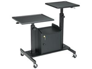 BALT Pro-View Projection Stand w/2 Platforms, 3-Shelf, 33w x 24d x 44-1/2h, Black