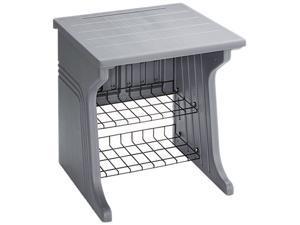 Iceberg 93002 Aspira Printer Stand, 2-Shelf, Resin, 28 x 28 x 30, Charcoal