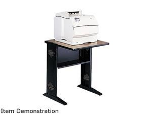 Safco 1934 Fax/Printer Stand w/Reversible Top, 1-Shelf, 24w x 28d x 30h, Black/Medium Oak