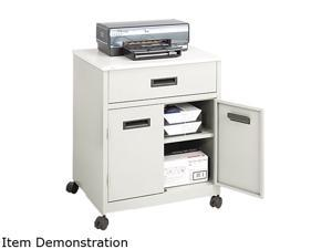 Safco 1870GR Steel Machine Stand w/Pullout Drawer, 25w x 20d x 29-3/4h, Gray