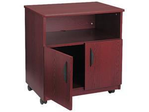 Safco 1850MH Laminate Machine Stand w/Open Compartment, 28-1/8w x 19-3/4d x 30-1/2h, Mahogany