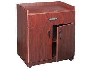 Safco 1852MH Mobile Laminate Machine Stand w/Pullout Drawer, 30 x 20-1/2 x 36-1/4, Mahogany