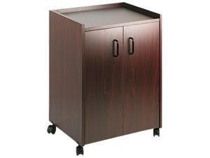 Safco 8953MH Mobile Refreshment Center, 1-Shelf, 23w x 18d x 31h, Mahogany