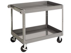 Tennsco SC-2436 Two-Shelf Metal Cart, 2-Shelf, 24w x 36d x 32h, Gray