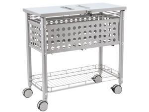 Vertiflex VF52001 Smartworx File Cart, 1-Shelf, 29-1/8w x 14d x 28-3/8h, Matte Gray