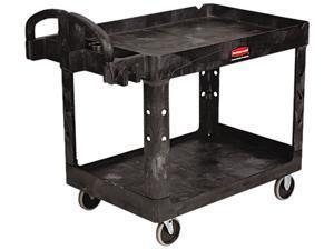 Rubbermaid Heavy-Duty Utility Cart, 2-Shelf, 500lbs, 26 x 45 x 33, Black