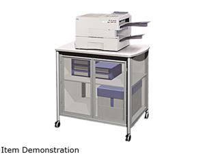 Safco Impromptu Deluxe Machine Stand w/Doors, 34-3/4 x 24-1/4 x 30-3/4, Silver/Gray
