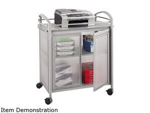 Safco Impromptu Refreshment Cart, 1-Shelf, 30-3/4 x 19-1/2 x 36-3/4, Silver/Gray