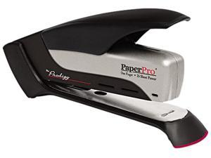 PaperPro 1110 Prodigy Spring Powered Stapler, 25-Sheet Capacity, Black/Silver