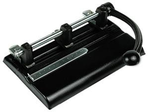 Master 1340PB 40-Sheet Lever Action Two- to Seven-Hole Punch, 13/32 Diameter Holes, Black