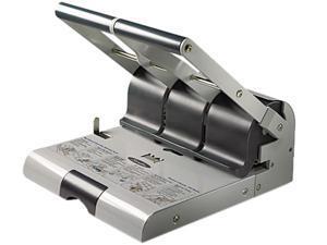 Swingline 74650 160-Sheet Heavy-Duty Two- or Three-Hole Punch, 9/32 Diameter Hole, Putty/Gray