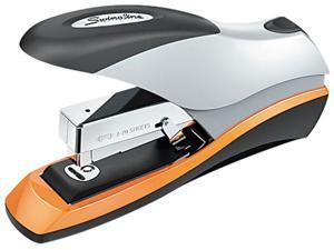 Swingline 87875 Optima Desktop Stapler, 70-Sheet Capacity, Silver/Orange/Black