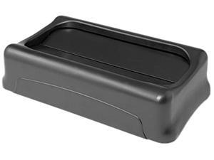 Rubbermaid Commercial 267360BK Swing Top Lid for Slim Jim Waste Containers, 11-3/8 x 20-3/8, Plastic, Black