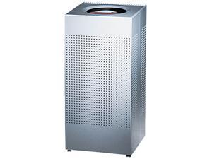 Rubbermaid Commercial SC14EPLSM Designer Line Silhouettes Receptacle, Steel, 16 gal, Silver Metallic
