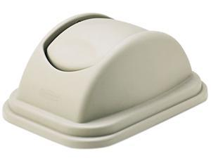 Rubbermaid Commercial 306700BG Rectangular Free-Swinging Plastic Lids, Beige