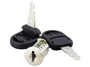 Alera VA50-1111 Core Removable Lock and Key Set, Silver, Two Keys/Set