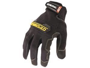 Ironclad GUG-04-L General Utility Spandex Gloves, 1 Pair, Black, Large
