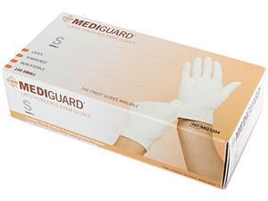 Medline MG1204 MediGuard Powdered Latex Exam Gloves, Small, 100/Box