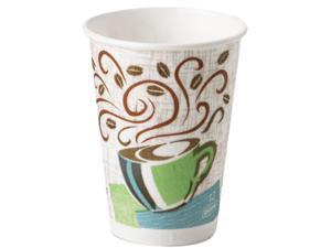 Dixie 5342CD Hot Cups, Paper, 12 oz., Coffee Dreams Design, 1000/Carton