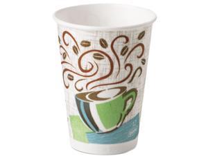 Dixie 5342DX Hot Cups, Paper, 12 oz., Coffee Dreams Design, 500/Carton