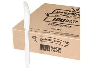 SOLO Cup Company GBX6KW Guildware Heavyweight Plastic Knives, White, 10 Boxes of 100