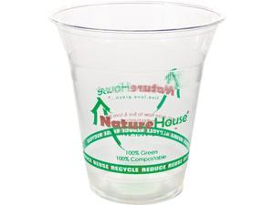 NatureHouse FK02 Plastic Cup, 12 oz, Clear