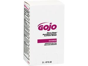 GOJO 7220 RICH PINK Antibacterial Lotion Soap Refill, 2000 mL, Pink, 4/Carton