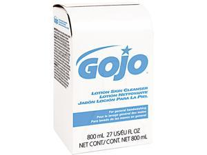 GOJO 9112-12CT Lotion Skin Cleanser Refill, Pleasant, Liquid, 800ml Bag, 12/Carton