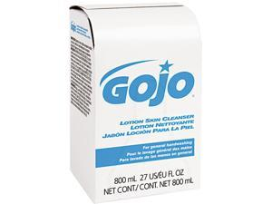 GOJO 9112-12EA Lotion Skin Cleanser Refill, Pleasant, Liquid, 800ml Bag
