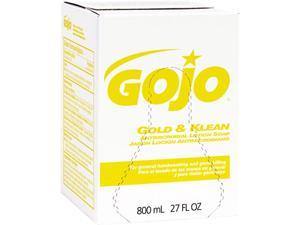 GOJO 9127-12 Gold & Klean Lotion Soap Bag-in-Box Dispenser Refill, Fresh Liquid, 800ml