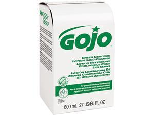 GOJO 9165-12 Green Certified Lotion Hand Cleaner 800-ml Bag-in-Box Refill, Unscented, Refill