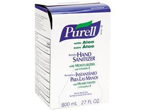 PURELL 9637 Instant Hand Sanitizer 800-ml Refill, Aloe, 12/Carton