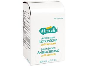 GOJO 9757-12CT MICRELL Antibacterial Lotion Soap Refill, Unscented Liquid, 800ml, 12/Carton