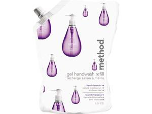 Method 00654 Gel Hand Wash Refill, 34 oz., Natural Lavender Scent, Plastic Pouch