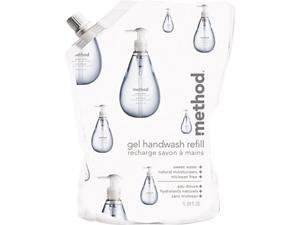 Method 00652 Gel Hand Wash Refill, 34 oz., Sweet Water Scent, Plastic Pouch