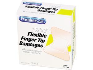 Flexible Large Fingertip Adhesive Bandages, 1-3/4 x 3, 40/Box